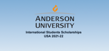 USA Anderson University International Students Scholarships, 2021-22
