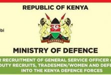 New Re-advertised  KDF Recruitment Centres And Dates