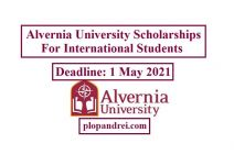 Alvernia University International Honor Scholarships, USA 2021-22