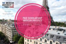 American University of Paris International Scholar Awards in France, 2021-22