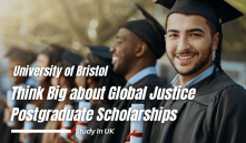 Global Justice postgraduate Scholarship at University of Bristol in UK, 2021-22