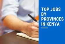 Most Popular Jobs by Province in Kenya banner